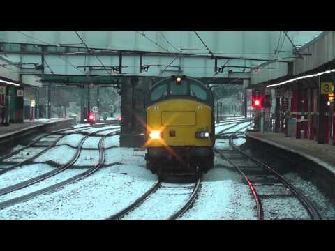 37611 3Z02 Derby RTC - Carlisle Wapping Sidings Test Train, Sun.1st March 2015