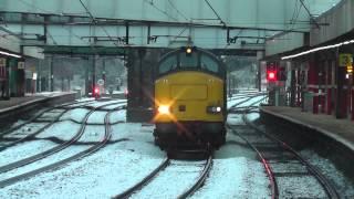 37611 3Z02 Derby RTC - Carlisle Wapping Sidings Test Train, Sun.1st March 2015