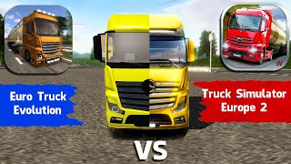 Euro Truck Evolution vs. Truck Simulator Europe 2 | Trucks Comparison 2020 | Android Gameplay screenshot 2