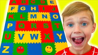 learn English alphabet with ABC song | Preschool toddler Children Songs Dolguniki