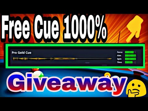 8 Ball Pool - FREE Pro Gold Cue  And 17 Legendary Cue FREE Peward And Giveaway Account ..!!