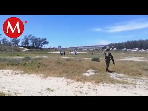 Con helicóptero buscan a joven ahogado en Playa Miramar