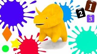 Apprendre les fruits, les couleurs, les formes et les numéros avec Dino le Dinosaure !