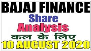 AUGUST 10 Bajaj Finance Stock Analysis Bajaj Finance Share BAJAJ FINANCE SHARE LATEST NEWS intraday