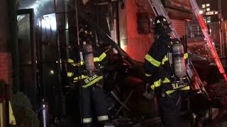 FDNY BOX 626 - FDNY OPERATING AT SMOKY QUICKLY KNOCKED DOWN 3RD ALARM FIRE ON GREENE AVE,. BROOKLYN.