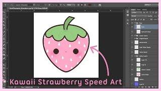 Kawaii Strawberry Speedart ●  How I Create the Art for my Charms