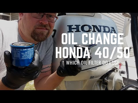 Oil Change Honda 40/50hp Outboard