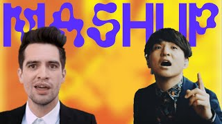 Cover images Panic! At The Disco & Official HIGE DANdism - Shukumei No High Hopes (Video Mashup)