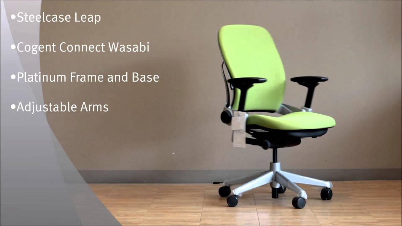 Steelcase Leap Office Chair in Cogent Connect Wasabi with