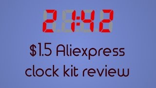 In this video I am reviewing an extremely cheap DIY clock kit for learning THT soldering. It is based on the AT89C2051 processor.