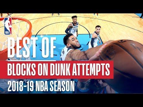 NBA's Best Blocks On Dunk Attempts | 2018-19 NBA Season | #NBABlockWeek