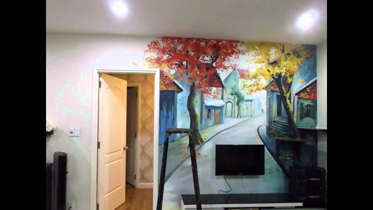 vẽ tranh tường phòng ngủ khách sạn Q8 _siêu phẩm của tổng thống obama