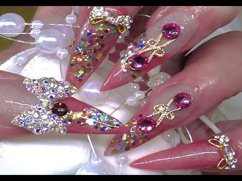 summer carnival bling  acrylic nails   youtube