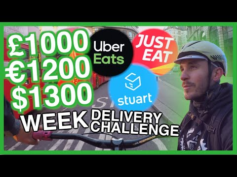 £1000 per WEEK on a BIKE on UberEATS & Stuart 1/3