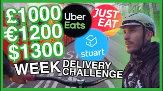 £1000 per WEEK on a BIKE on UberEATS & Stuart 1/3