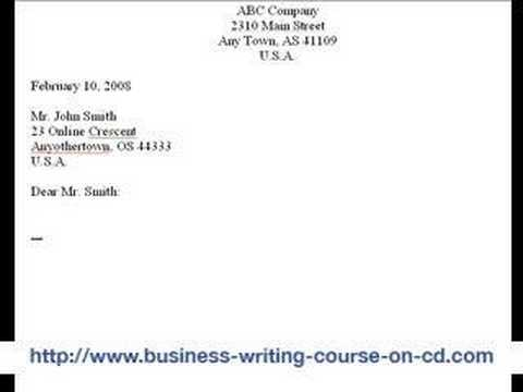 How To Write A Business Letter The 8 Parts