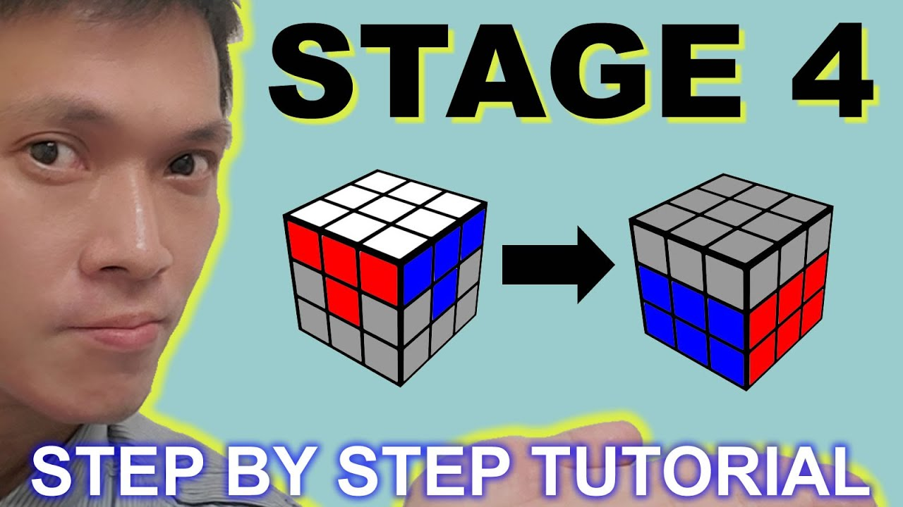 魔方 扭計骰 3x3 階段四 Rubik's Cube Magic Cube 3x3 STAGE 4 (廣東話 Cantonese) - YouTube