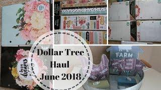 DOLLAR TREE HAUL | JUNE 21 2018 | FARMHOUSE DECOR DOLLAR GENERAL HAUL 2018