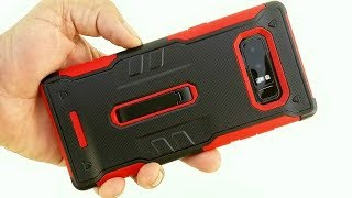 Samsung Galaxy Note 8 Protective Case (Red & Black) Unboxing and First look New 2017