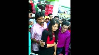 Repeat youtube video Sanusha  in a shop inaguration with here father