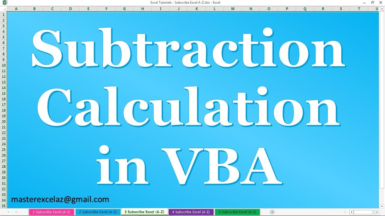Regular Verb Worksheets Pdf How To Create Subtraction Minus Calculation In Vba In Ms Excel  Compound Nouns Worksheets Excel with Comparison Of Adjectives Worksheet Word How To Create Subtraction Minus Calculation In Vba In Ms Excel  Linking And Helping Verbs Worksheets Pdf