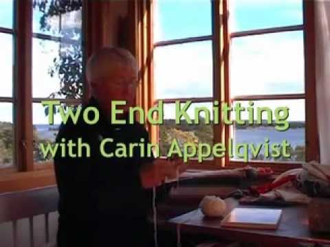 Twined Knitting - Two End Knitting - Tvåändsstickning - Learn with Carin Appelqvist