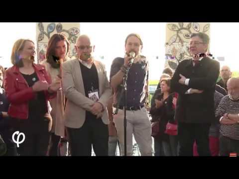 """Pablo Iglesias: """"Por Francia, por Europa. ¡Adelante Francia Insumisa que sí se puede!"""""""