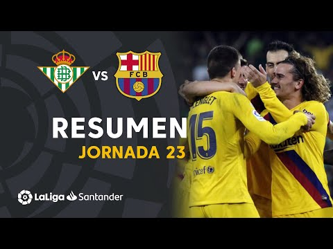 Highlights Real Betis vs FC Barcelona (2-3)