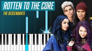 "Descendants Cast - ""Rotten to the Core"" Piano Tutorial - Chords - How To Play - Cover"