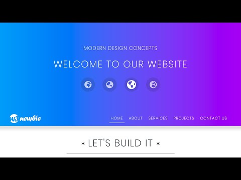 HTML & CSS Website Design - Sticky Dropdown Menu - Built With HTML5, CSS3, Bootstrap 4, & VS Code