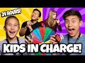 Parents Can't Say No to Mystery Wheel Challenge!!! Kids in Charge for 24 hours!