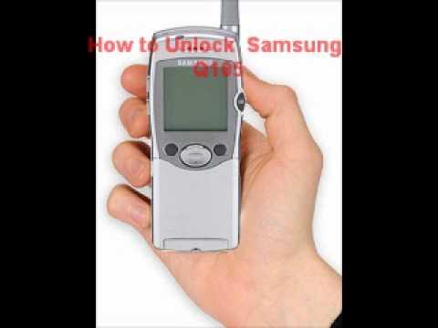 Samsung Q105 Unlock Code - Free Instructions