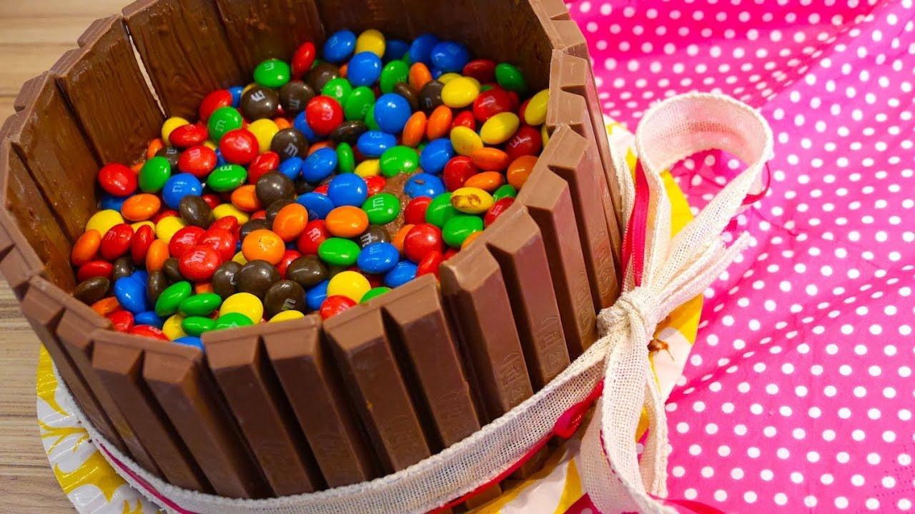 Kit Kat MM Torte  Kuchen Rezept von einfachKochen  YouTube