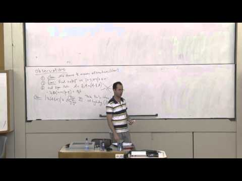 Elchanan Mossel at Technion - Mathematics Lecture 2