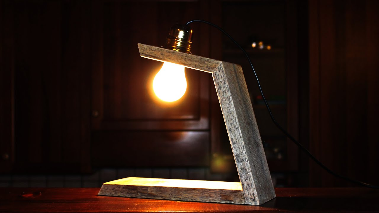 Wooden lamp lampada in legno fai da te diy youtube for Youtube fai da te legno