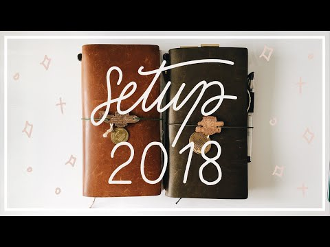 Traveler's Notebook Setup for 2018