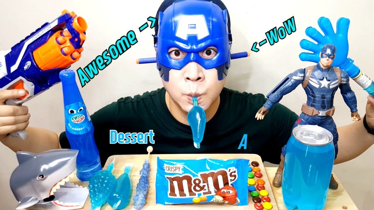 파란 젤리 초코 아이스크림 먹방 ASMR BLUE JELLY CANDY CHOCOLATE ICE CREAM MUKBANG アイスクリーム 冰淇淋 Kem cây ไอศกรีม