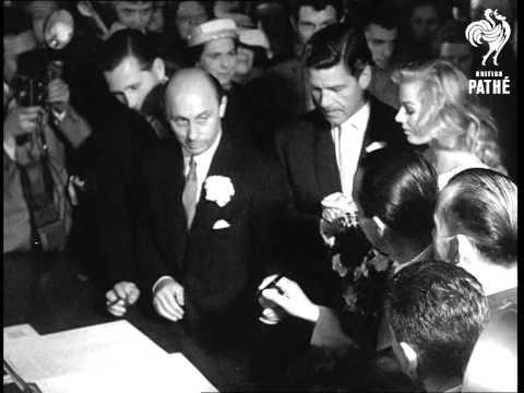 Anthony Steel Marries Anita Ekberg 1956