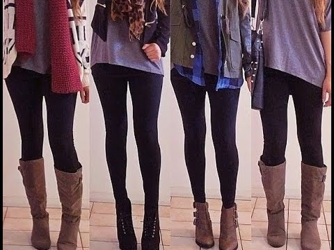 outfits con leggins youtube