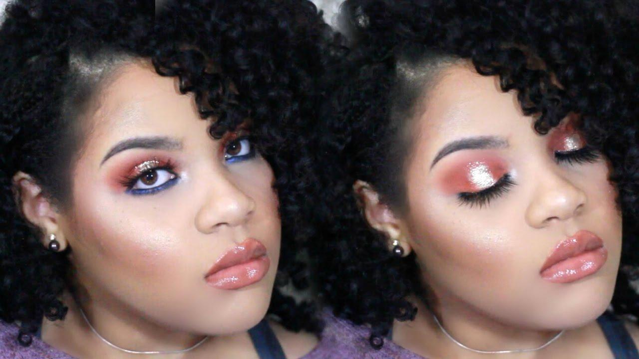 Grwm navy rose gold glitter halo eye l makeup tutorial youtube grwm navy rose gold glitter halo eye l makeup tutorial baditri Image collections