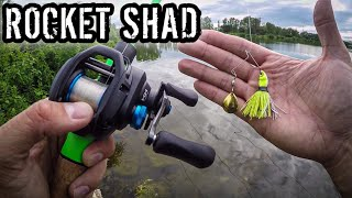 Testing Finesse Spinnerbaits for Tough Summer Fishing (Strike King Rocket Shad)