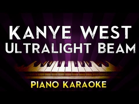 Kanye West - Ultralight Beam  | Higher Key Piano Karaoke Instrumental Lyrics Cover Sing Along