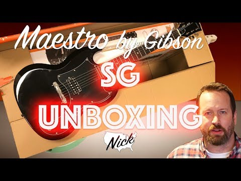 $79 Maestro (by Gibson) SG Unboxing and Project Plan - Junk or Good Bones?