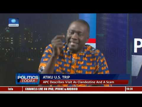 PDP, APC Disagree Over Atiku's Trip To The U.S. Pt.2  Politics Today 