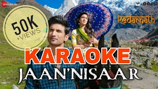 Jaan Nisaar (Kedarnath) - KARAOKE With Lyrics || Arijit Singh || BasserMusic || Bollywood Karaoke