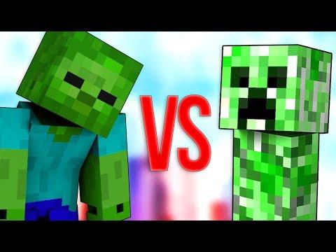 ЗОМБИ VS КРИПЕР | СУПЕР РЭП БИТВА | Creeper Minecraft ПРОТИВ Zombie Майнкрафт