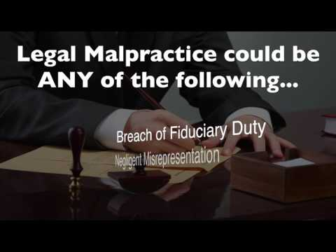 Florida Legal Malpractice - Suing an Attorney in Florida