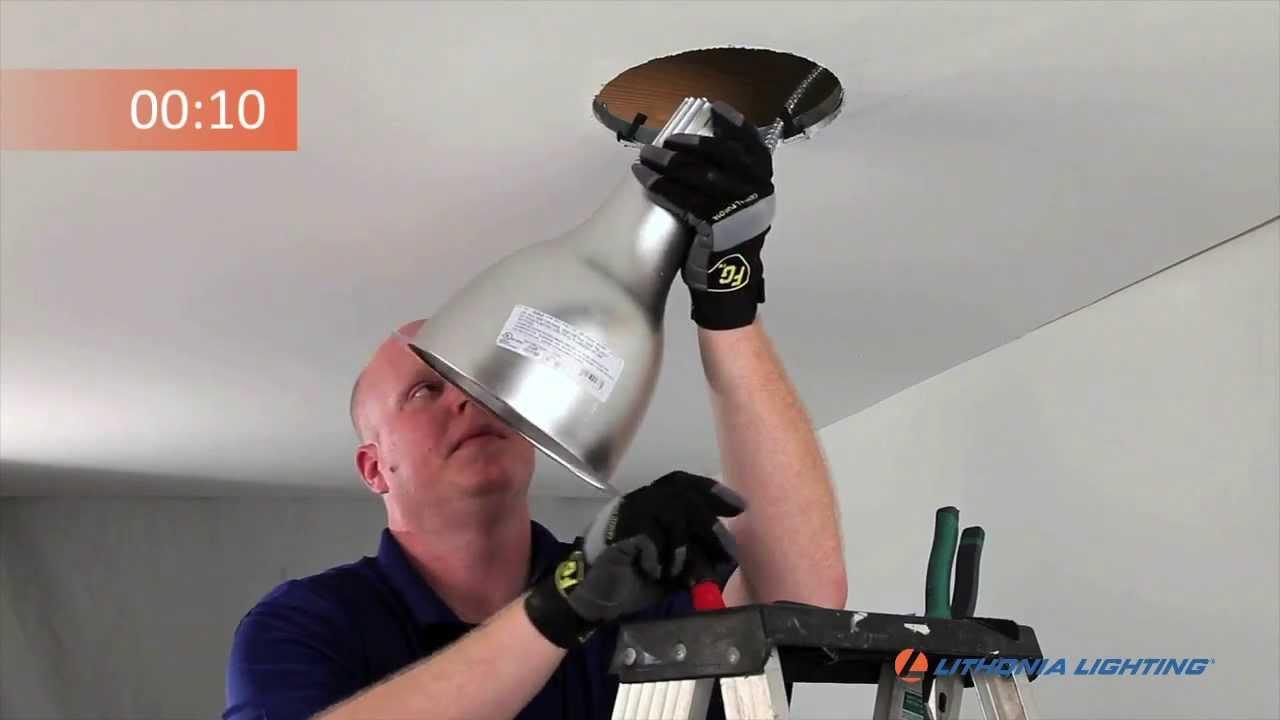 RV Series Downlight Installation Procedure - YouTube