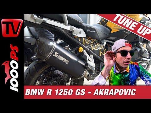 Akrapovic an der BMW R1250GS - Sound und Montage