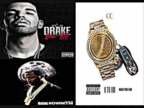 """Drake ft. Meek Mill & Rich The Kid """"0 To 100"""" Remix"""